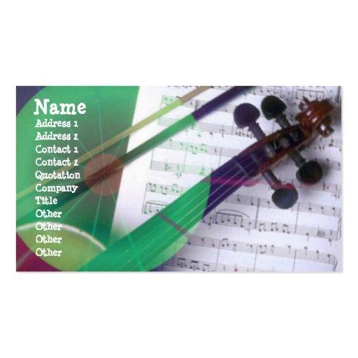 Tarjeta musical del perfil tarjetas de visita