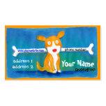 tarjeta muy feliz del perfil del perro tarjeta de visita