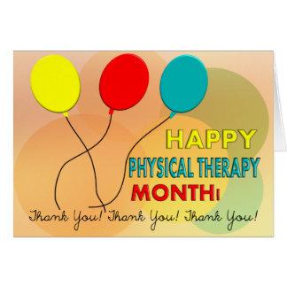 Tarjeta nacional 7 del mes de la terapia física