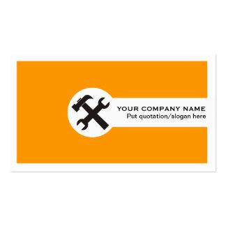 Tarjeta-naranja del negocio de construcción tarjetas de visita