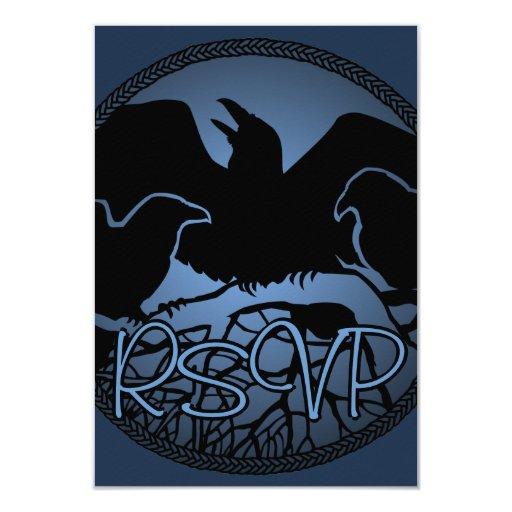 """Tarjeta nativa personalizada RSVP del arte del Invitación 3.5"""" X 5"""""""