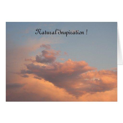 ¡Tarjeta natural de la inspiración de los ámbares! Tarjeta De Felicitación