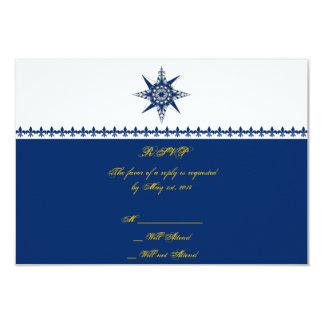 Tarjeta náutica de la respuesta del amarillo de la invitación 8,9 x 12,7 cm