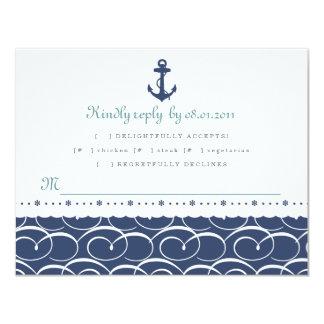 Tarjeta náutica de la respuesta invitación 10,8 x 13,9 cm