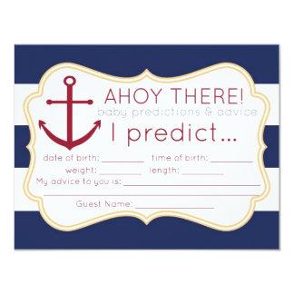 """Tarjeta náutica de las predicciones y del consejo invitación 4.25"""" x 5.5"""""""
