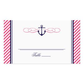 Tarjeta náutica del acompañamiento del boda de la plantilla de tarjeta personal
