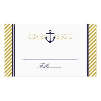 Tarjeta náutica del acompañamiento del boda del tarjetas de visita
