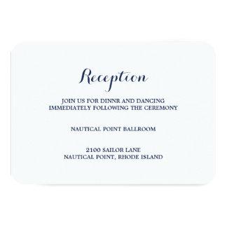Tarjeta náutica del recinto de la recepción del | invitación 8,9 x 12,7 cm