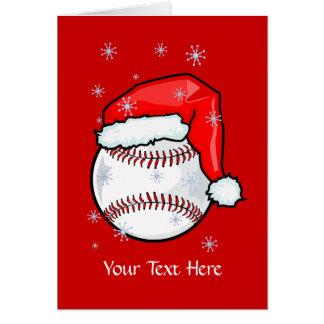 Tarjeta - navidad del béisbol