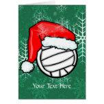 Tarjeta - navidad del voleibol