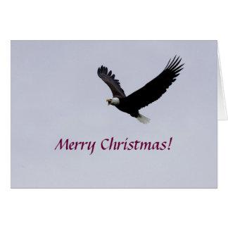 Tarjeta navidad Eagle en vuelo