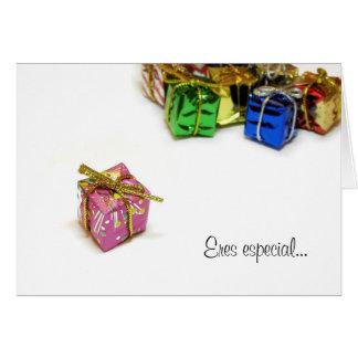 "Tarjeta Navideña ""Eres especial"" Greeting Card"