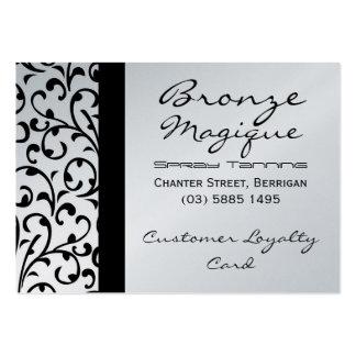 Tarjeta negra de la lealtad del cliente empresa tarjeta de visita