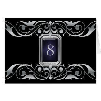 Tarjeta negra de la tabla de la plata de la grande