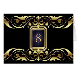 Tarjeta negra de la tabla de la voluta del oro de