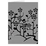 Tarjeta negra de las flores