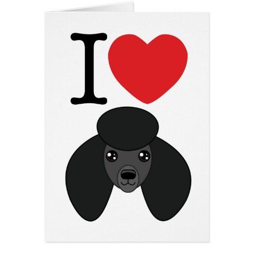 Tarjeta negra del caniche