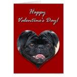 Tarjeta negra del día de San Valentín del barro am