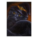 Tarjeta negra del gato persa