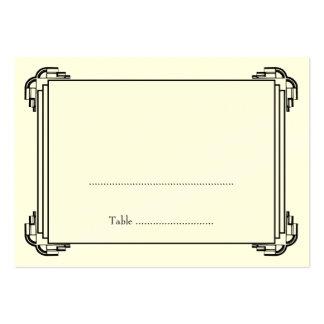 Tarjeta negra del lugar del acompañamiento de la h tarjetas de negocios
