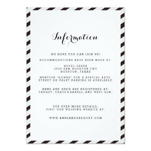 Tarjeta negra del parte movible de la información invitación 11,4 x 15,8 cm