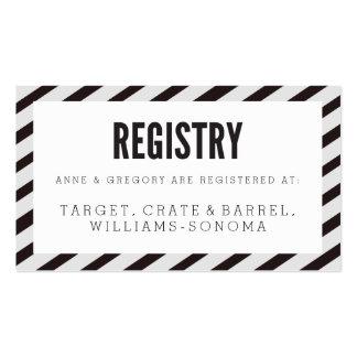 Tarjeta negra del parte movible del registro de tarjetas de visita
