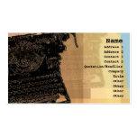Tarjeta negra del perfil de la máquina de escribir plantilla de tarjeta de negocio