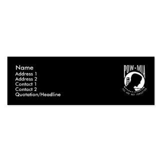 Tarjeta negra del perfil de MIA del PRISIONERO DE Tarjetas De Visita Mini