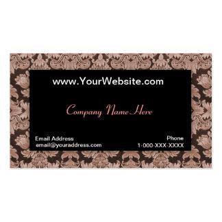 Tarjeta negra del perfil del damasco de la insinua tarjetas de visita