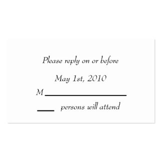 Tarjeta negra del recinto de la elegancia tarjetas de visita
