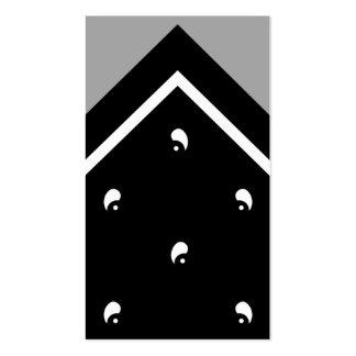 Tarjeta negra del truco del pañuelo/tarjeta de vis tarjetas de visita