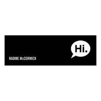Tarjeta negra moderna del perfil tarjetas de negocios
