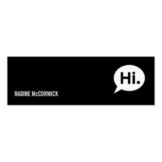 Tarjeta negra moderna del perfil tarjetas de visita mini