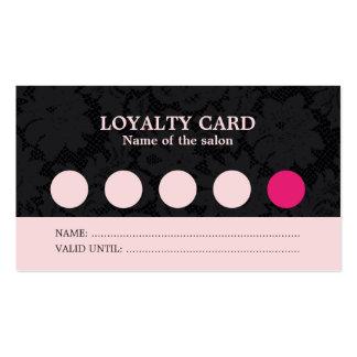 Tarjeta negra rosada fresca moderna de la lealtad tarjetas de visita