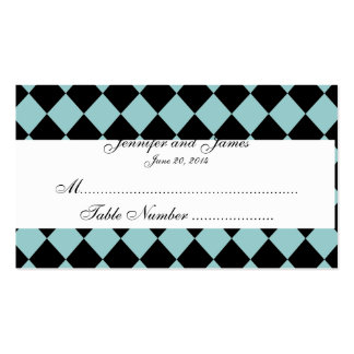 Tarjeta negra verde del lugar del boda del modelo tarjetas de visita