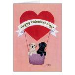 Tarjeta negra y amarilla del el día de San Valentí