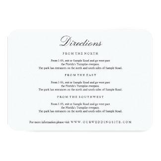Tarjeta negra y blanca del tipo elegante de las invitación 8,9 x 12,7 cm