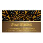 Tarjeta negra y quemada del batik tribal del oro d tarjeta de visita