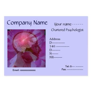 Tarjeta neura/del psicólogo/del neurólogo de visit tarjetas de visita grandes