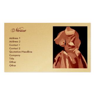 Tarjeta neutral del perfil del vestido del tarjetas de visita