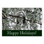Tarjeta nevada de los días de fiesta del pino