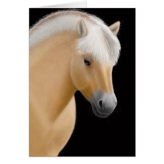 Tarjeta noruega del caballo del fiordo