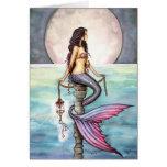Tarjeta Notecard de la sirena por Molly Harrison