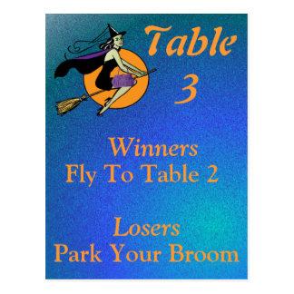 Tarjeta número 3 de la tabla de Halloween Bunco de Tarjeta Postal
