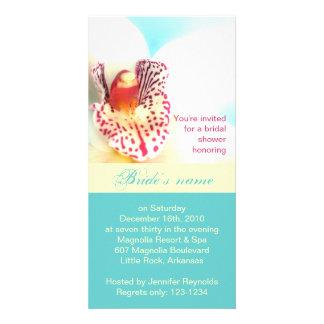 Tarjeta nupcial de la foto de la invitación de la tarjetas fotográficas