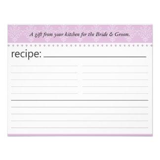 Tarjeta nupcial de la receta de la ducha