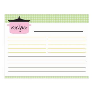 Tarjeta nupcial de la receta de la ducha tarjeta postal