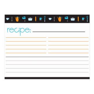 Tarjeta nupcial de la receta de la ducha tarjetas postales