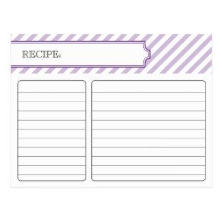 Tarjeta nupcial de la receta - púrpura postales