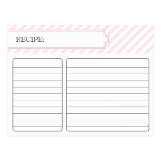 Tarjeta nupcial de la receta - rosa tarjetas postales